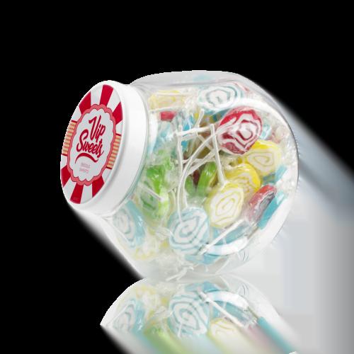 jar mixed lollipops