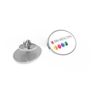 pin metal oval primary