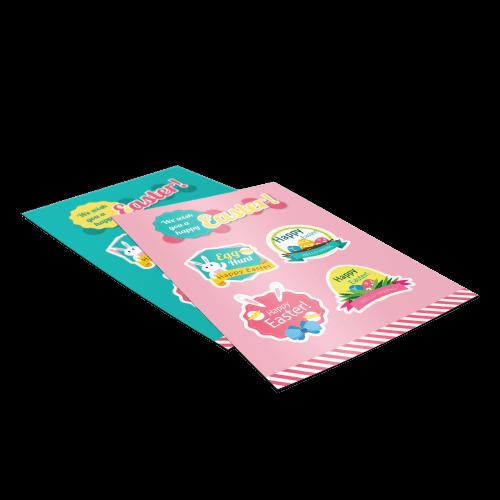 sticker flyer