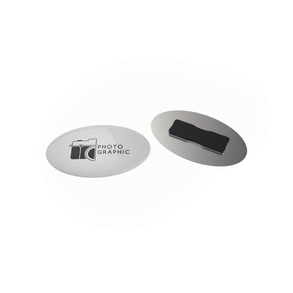 badge megan metal oval magneet