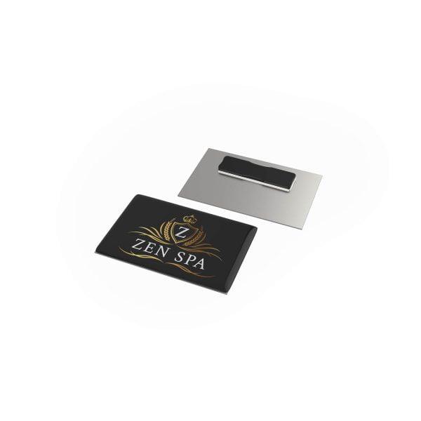 badge megan metal rechthoek magneet