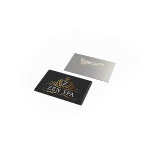 badge megan metal rechthoek naald